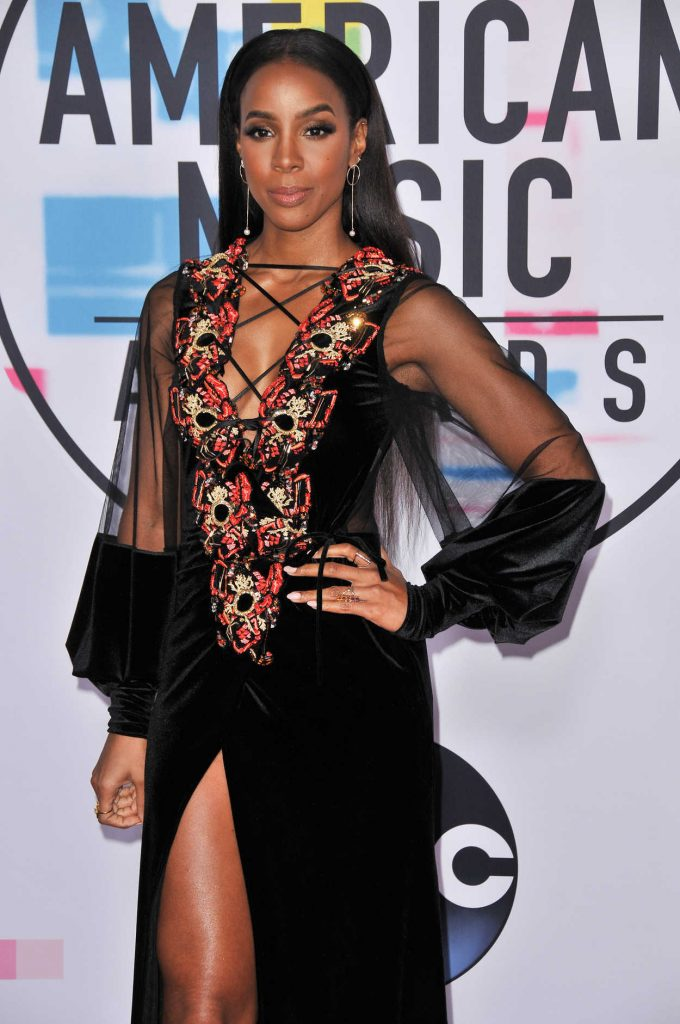 Kelly Rowland at 2017 American Music Awards at the Microsoft Theater in Los Angeles 11/19/2017-3