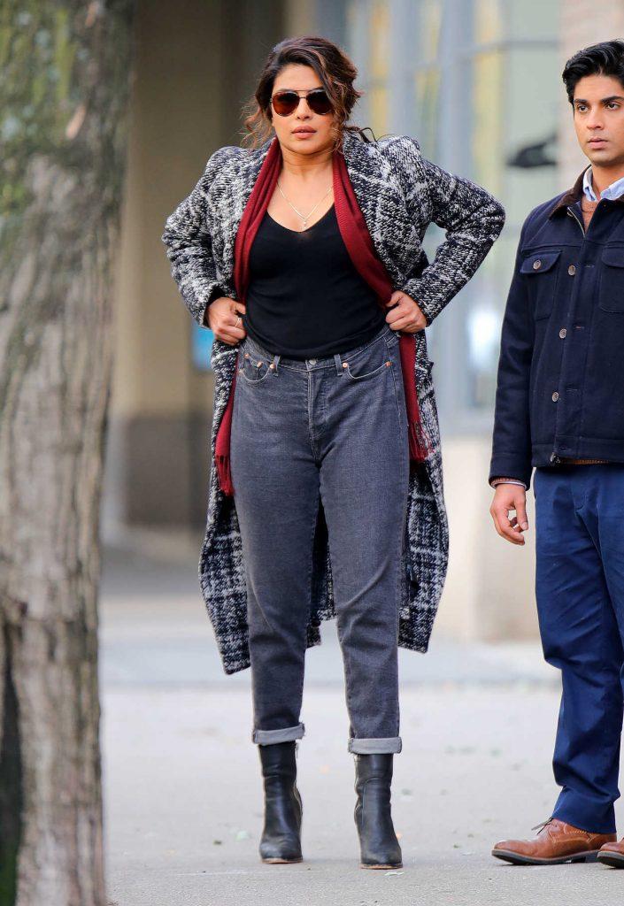 Priyanka Chopra on the Set of Quantico in New York City 11/14/2017-5