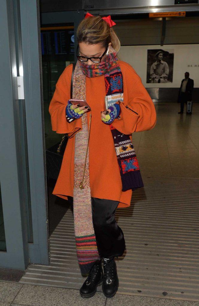 Rita Ora Was Seen at Heathrow Airport in London 11/03/2017-1