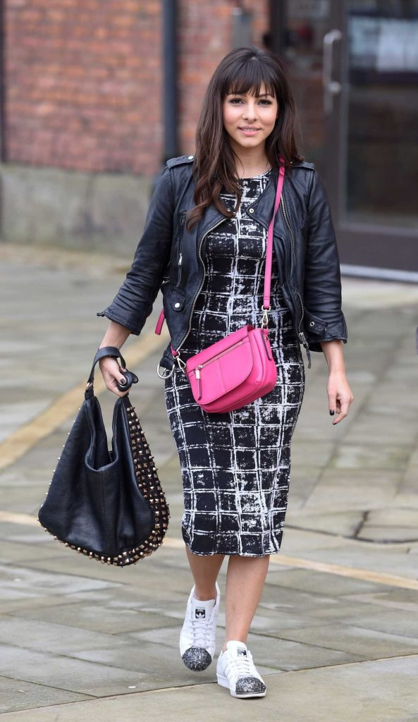 Roxanne Pallett Leaves Key 103 Radio Station in Manchester 11/11/2017-3
