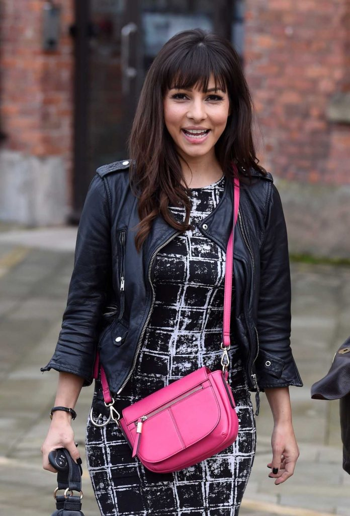 Roxanne Pallett Leaves Key 103 Radio Station in Manchester 11/11/2017-4