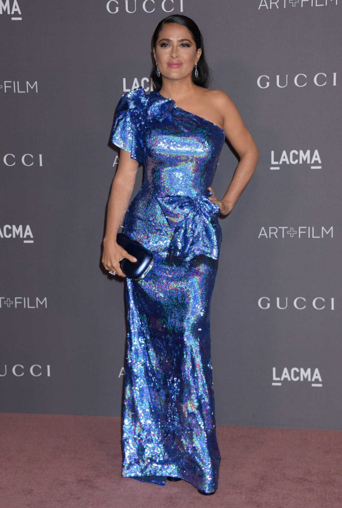 Salma Hayek at 2017 LACMA Art + Film Gala Honoring Mark Bradford and George Lucas in Los Angeles 11/04/2017-1