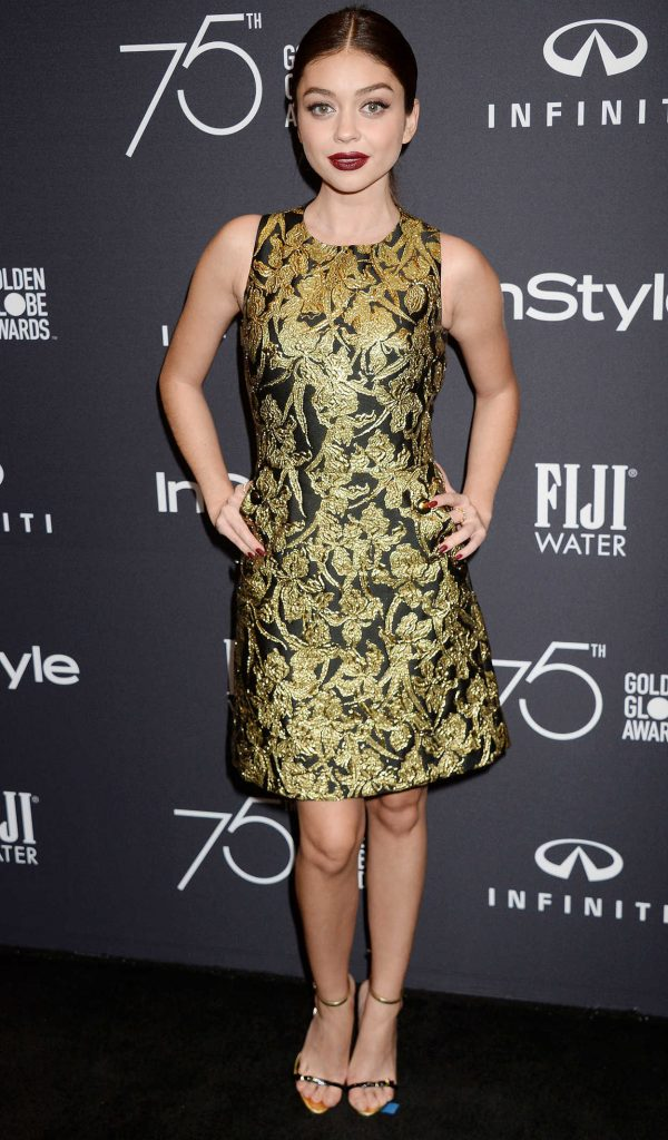 Sarah Hyland at the HFPA and InStyle Celebrate the 75th Anniversary of The Golden Globe Awards at Catch LA 11/15/2017-1