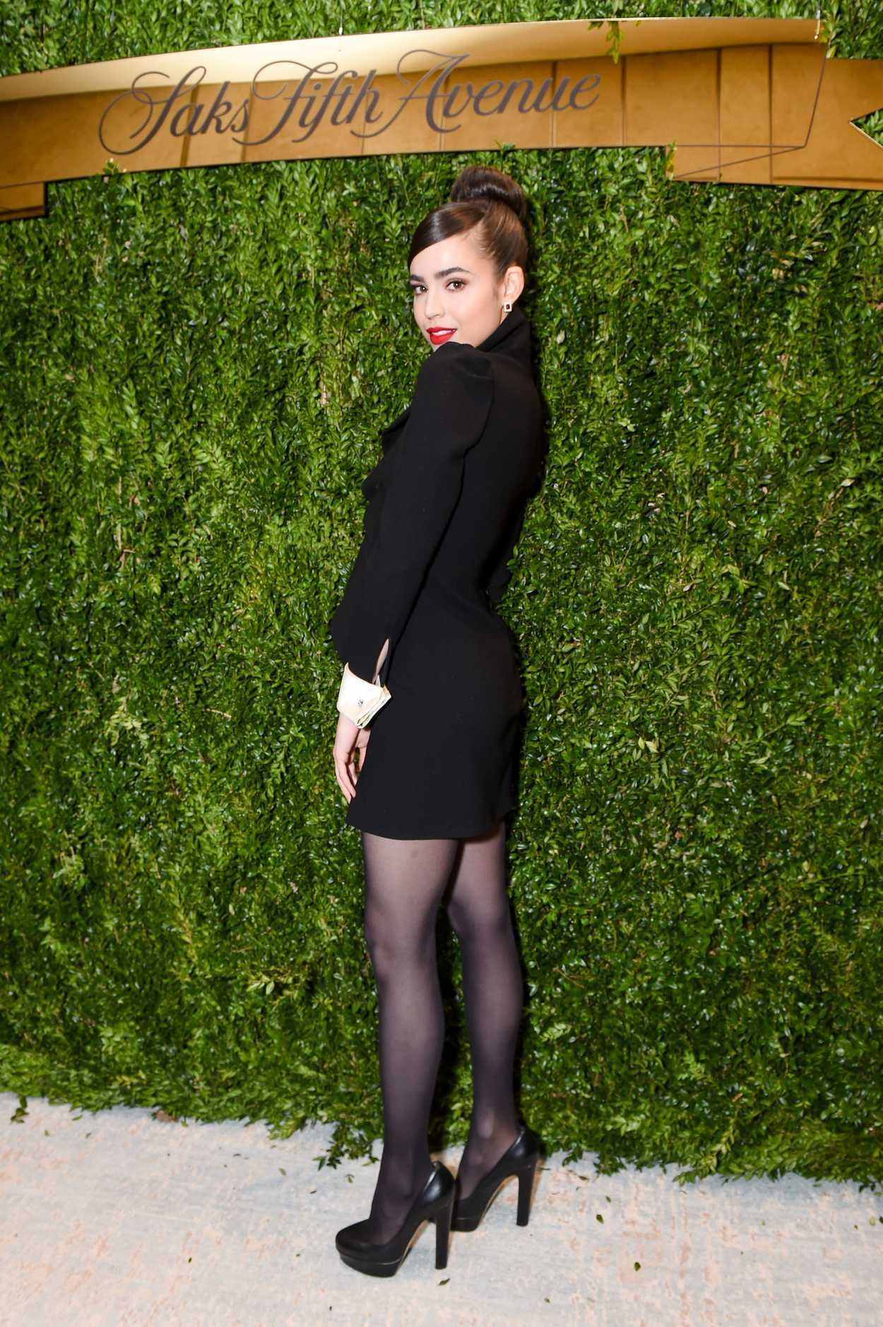 Sofia Carson At Saks Fifth Avenue And Disney Unveil Once