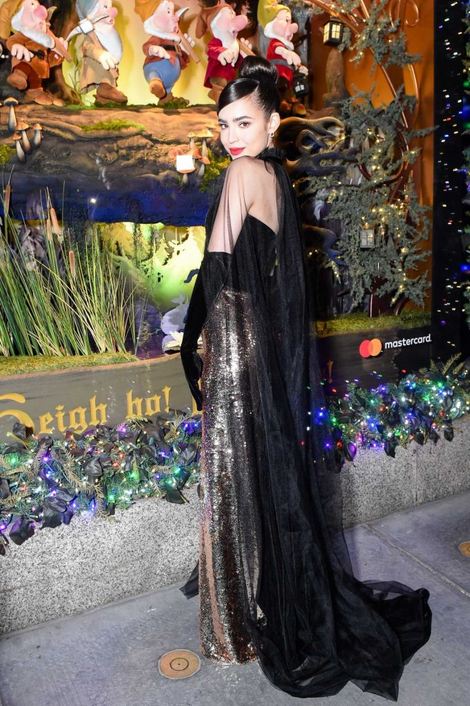 Sofia Carson at Saks Fifth Avenue and Disney Unveil Once Upon a Holiday in New York 11/20/2017-4