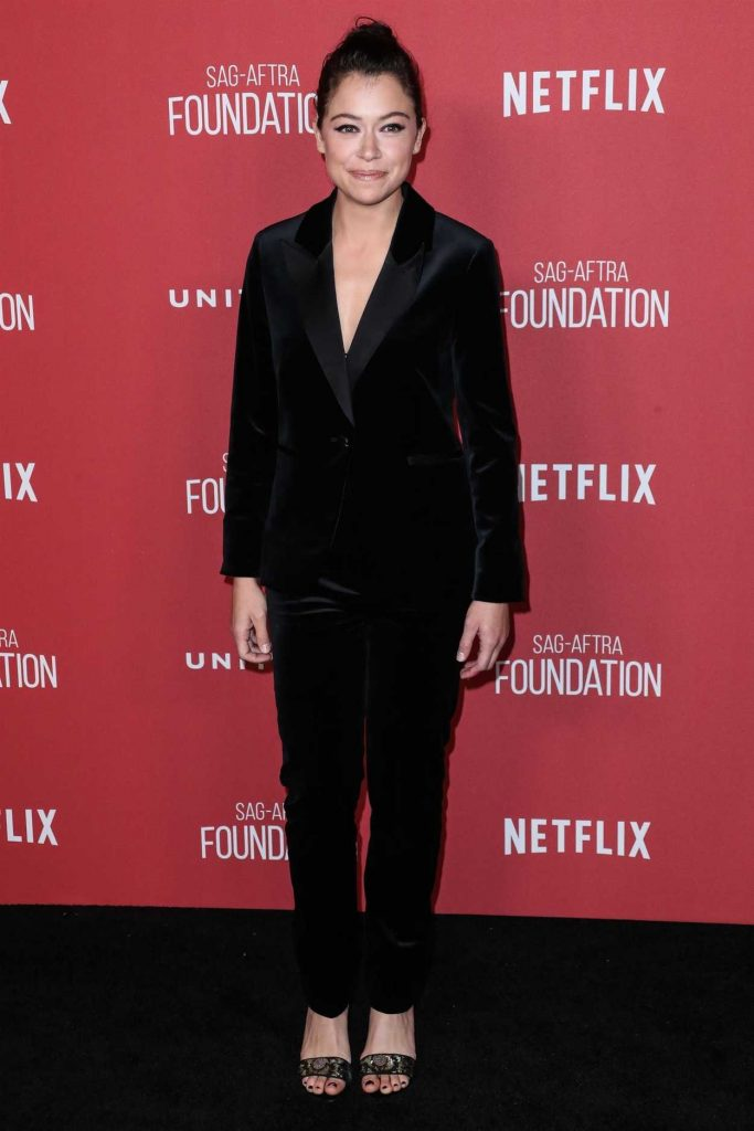 Tatiana Maslany at SAG-AFTRA Foundation's Patron of the Artists Awards in Beverly Hills 11/09/2017-1