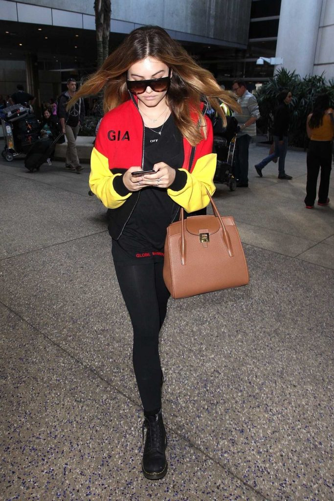 Thylane Blondeau Arrives at LAX Airport in Los Angeles 11/07/2017-2