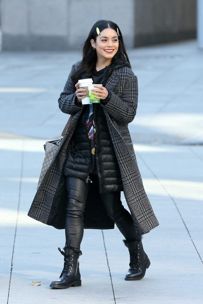 Vanessa Hudgens on the Set of Second Act in New York City 11/28/2017-1