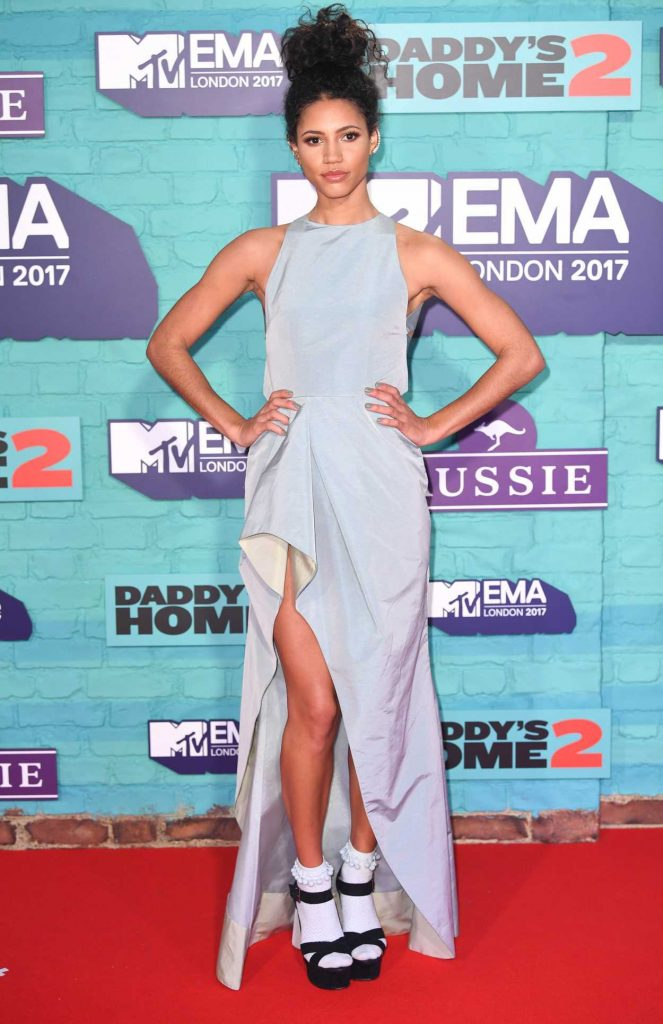 Vick Hope at the 24th MTV Europe Music Awards in London 11/12/2017-1