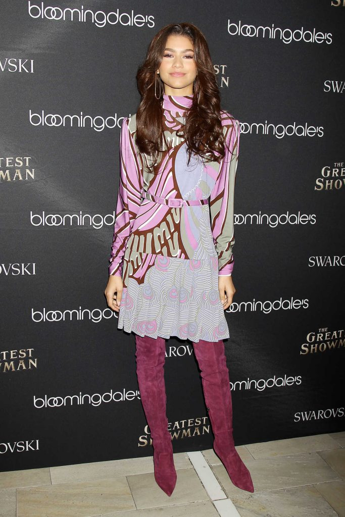 Zendaya at Bloomingdale's 59th Street Unveils The Greatest Holiday Windows in New York 11/21/2017-1