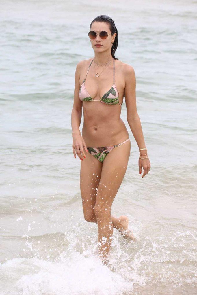 Alessandra Ambrosio in Bikini at the Beach in Florianopolis, Brazil 12/28/2017-1