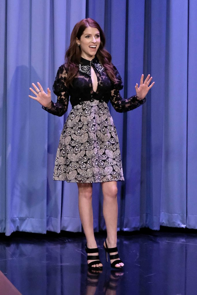Anna Kendrick at The Tonight Show Starring Jimmy Fallon at Rockefeller Center in NYC 12/18/2017-1