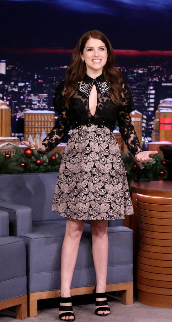 Anna Kendrick at The Tonight Show Starring Jimmy Fallon at Rockefeller Center in NYC 12/18/2017-2