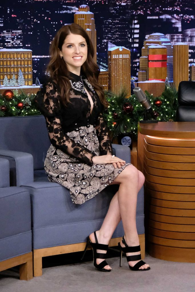 Anna Kendrick at The Tonight Show Starring Jimmy Fallon at Rockefeller Center in NYC 12/18/2017-3