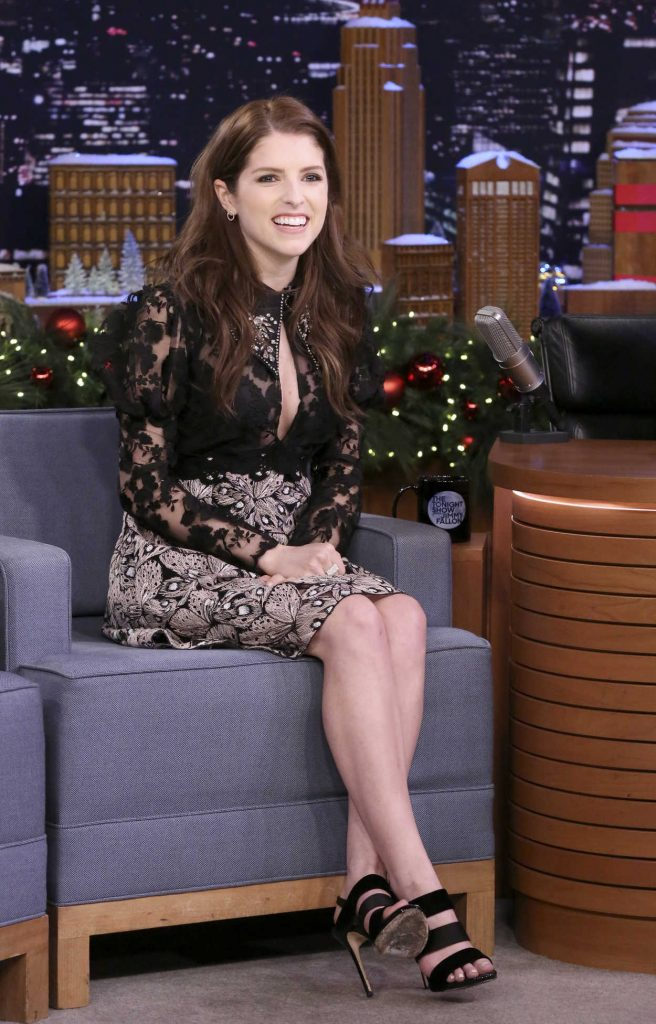Anna Kendrick at The Tonight Show Starring Jimmy Fallon at Rockefeller Center in NYC 12/18/2017-4
