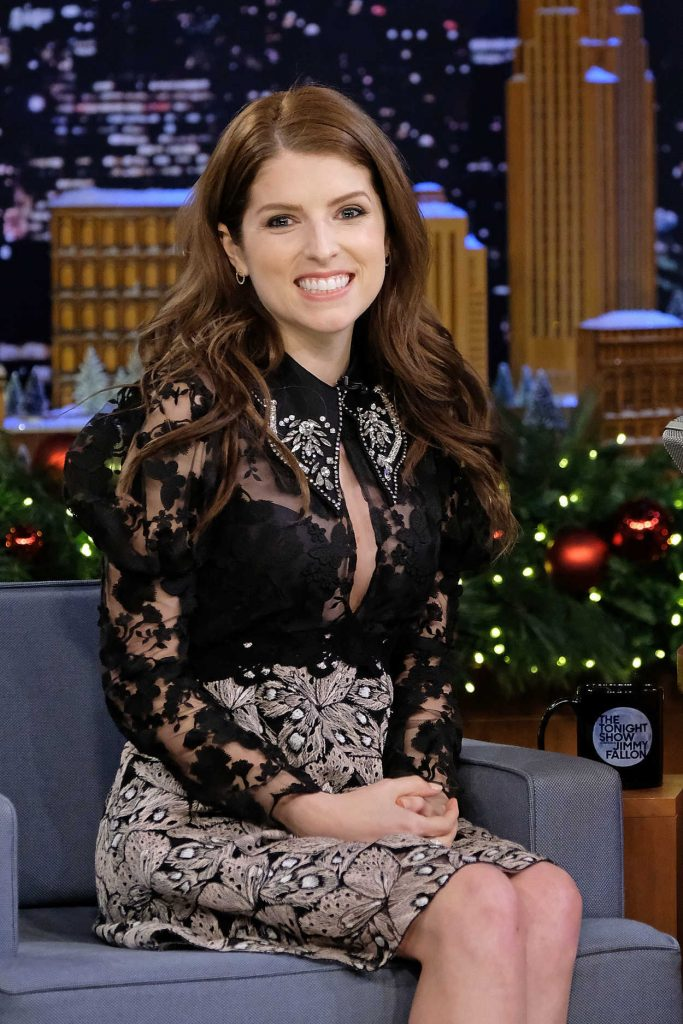 Anna Kendrick at The Tonight Show Starring Jimmy Fallon at Rockefeller Center in NYC 12/18/2017-5
