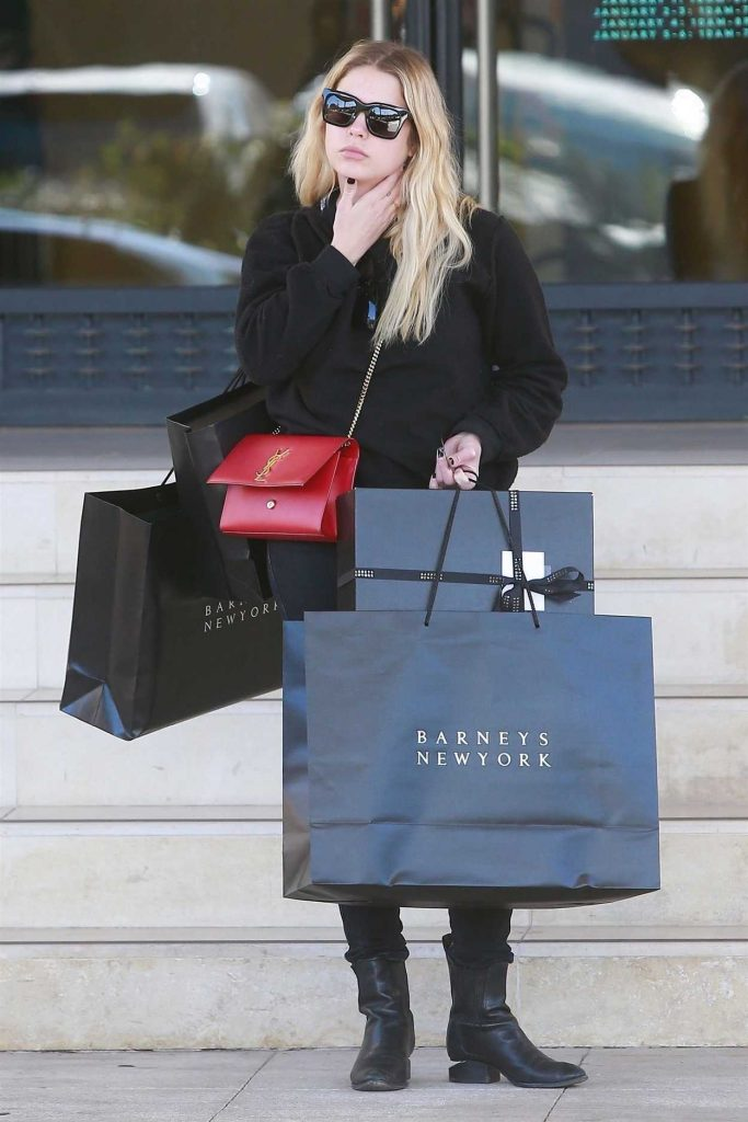 Ashley Benson Does Some Christmas Shopping at Barneys New York in Beverly Hills 12/24/2017-1