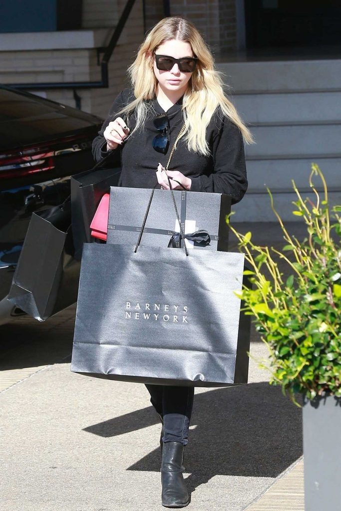 Ashley Benson Does Some Christmas Shopping at Barneys New York in Beverly Hills 12/24/2017-2