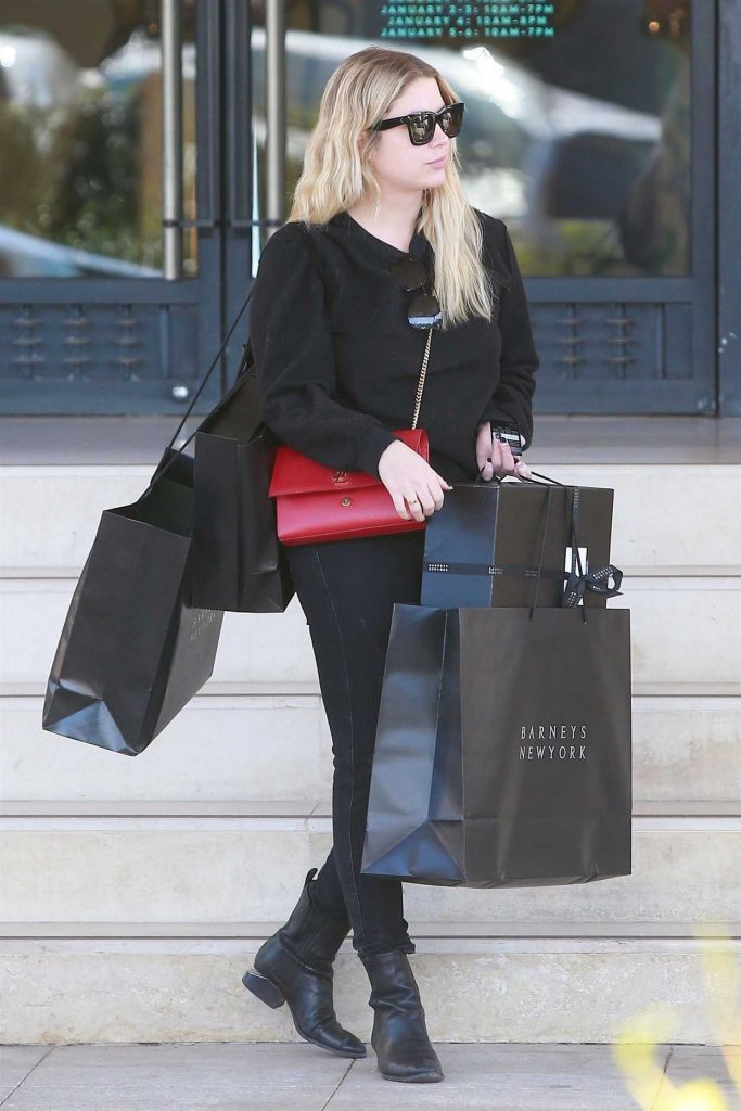 Ashley Benson Does Some Christmas Shopping at Barneys New York in Beverly Hills 12/24/2017-3