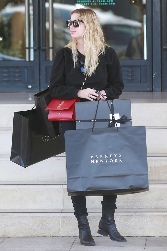 Ashley Benson Does Some Christmas Shopping at Barneys New York in Beverly Hills 12/24/2017-4
