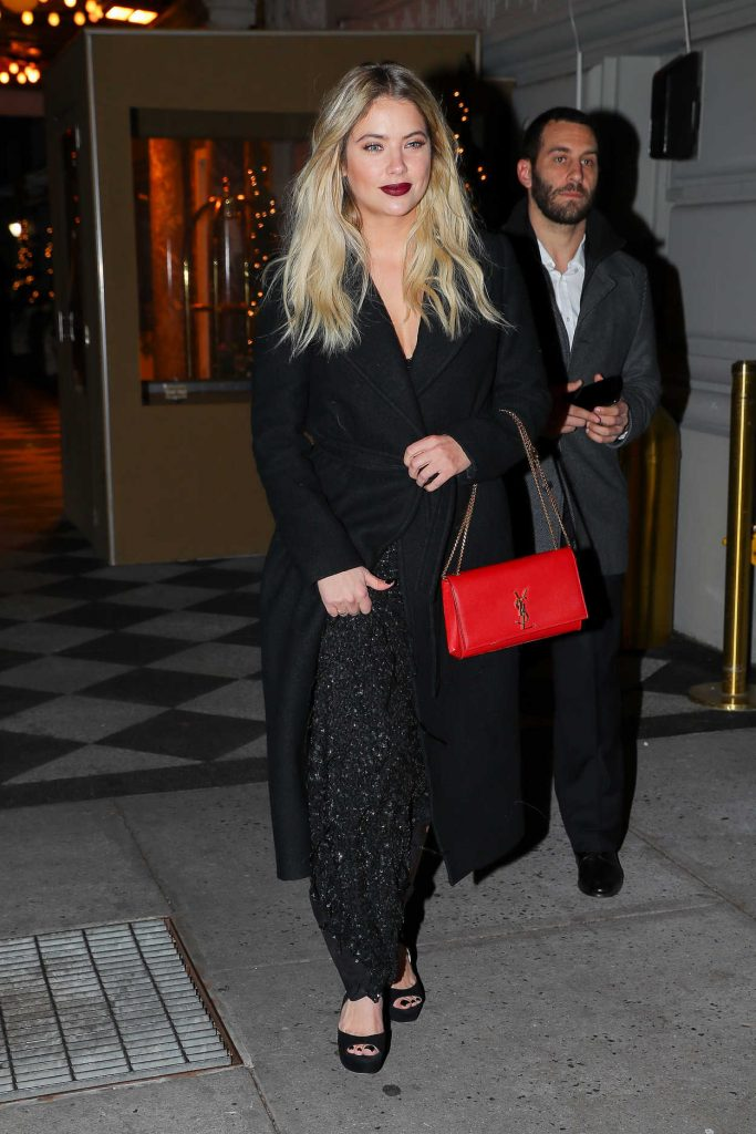 Ashley Benson Leaves the Pierre Hotel in NYC 12/06/2017-1