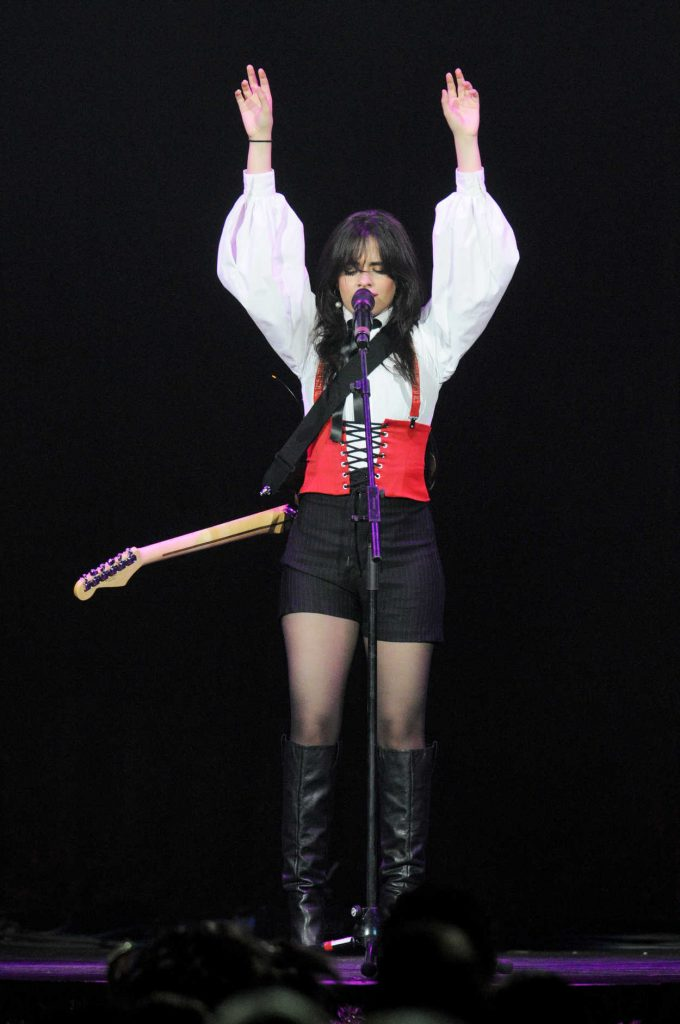 Camila Cabello Performs During 93.3 FLZ's 2017 Jingle Ball in Tampa 12/16/2017-4