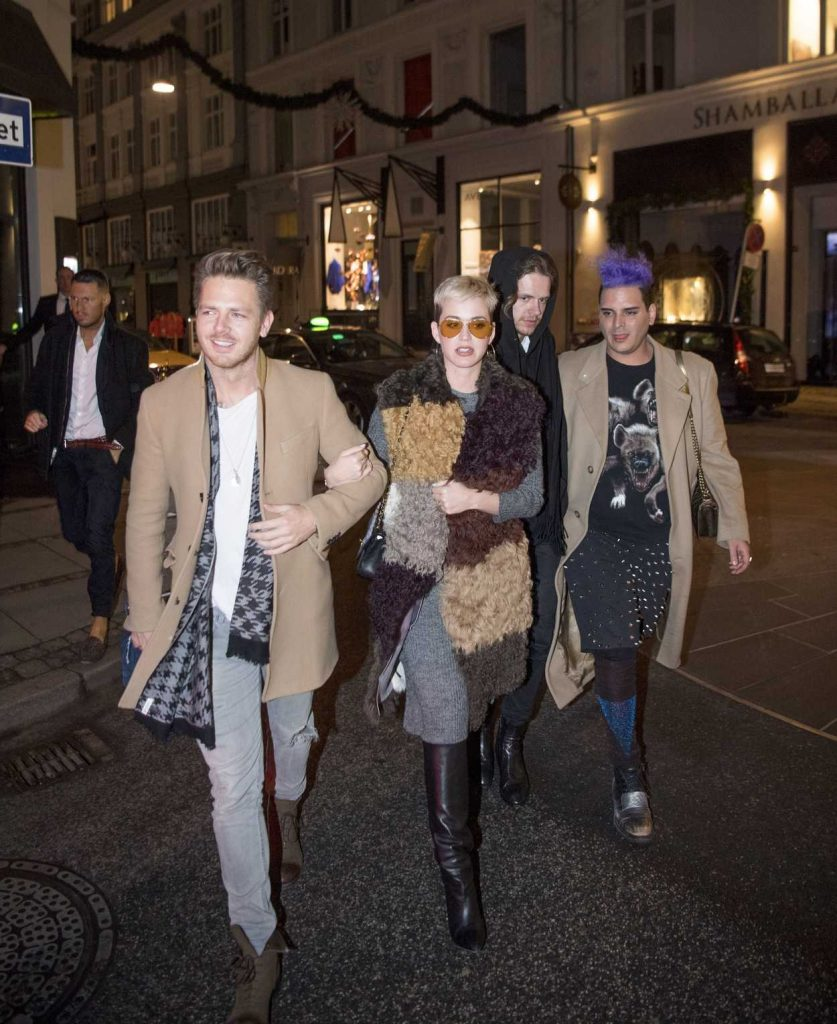Katy Perry Night Out in Denmark 12/25/2017-2