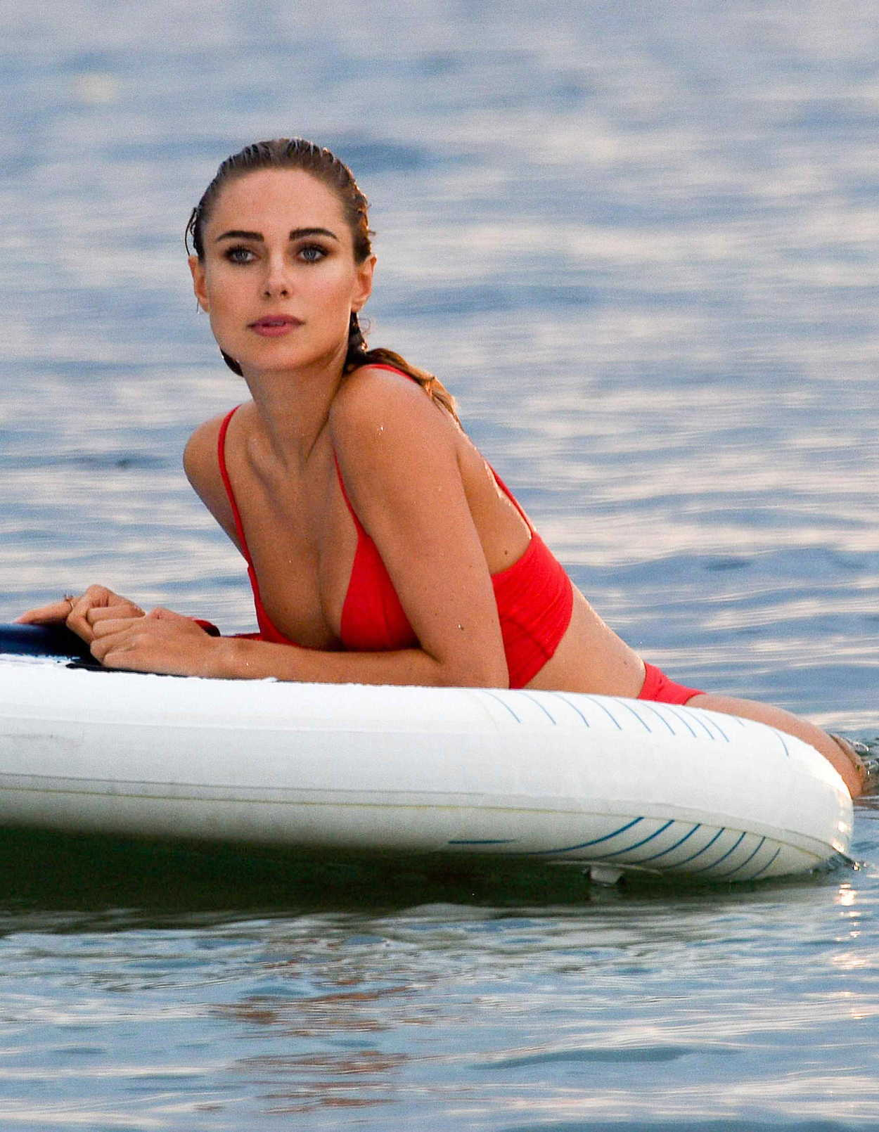 Kimberley Garner in Yellow Bikini on the beach in Miami Pic 6 of 35
