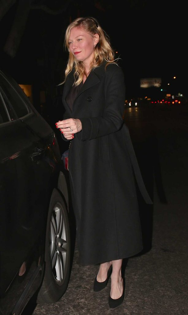 Kirsten Dunst Leaves Madeo Restaurant in West Hollywood 12/19/2017-2
