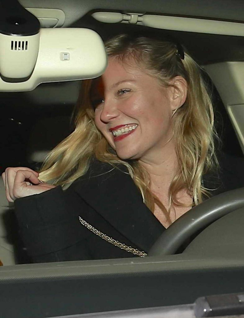 Kirsten Dunst Leaves Madeo Restaurant in West Hollywood 12/19/2017-5