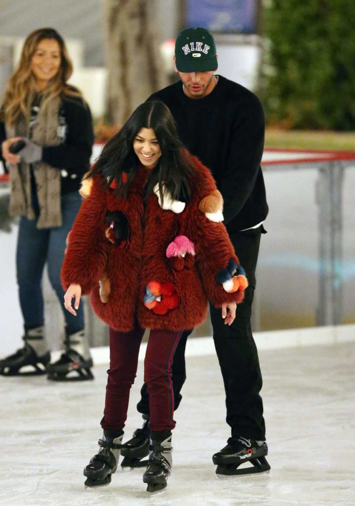 Kourtney Kardashian Ice Skating at a Party in Thousand Oaks 12/23/2017-2