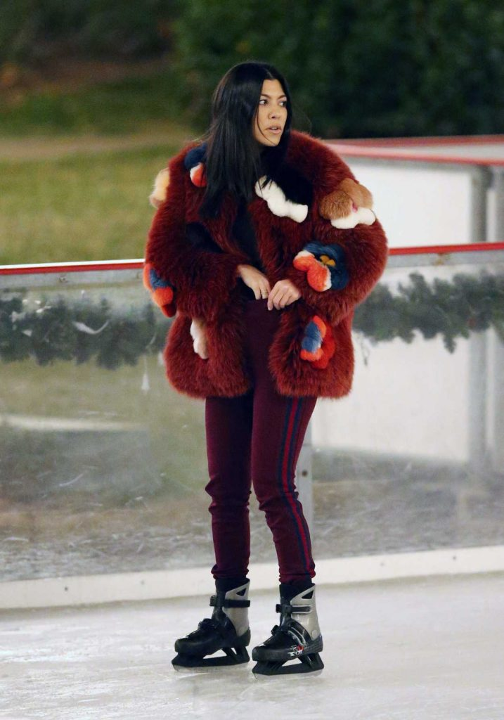 Kourtney Kardashian Ice Skating at a Party in Thousand Oaks 12/23/2017-3