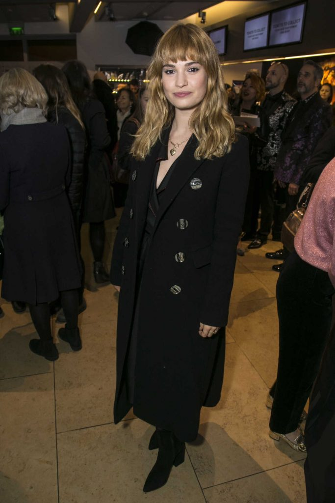 Lily James Attends the Evening Gala Performance of Matthew Bourne's Cinderella in London 12/17/2017-2