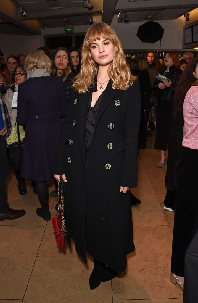 Lily James Attends the Evening Gala Performance of Matthew Bourne's Cinderella in London 12/17/2017-4