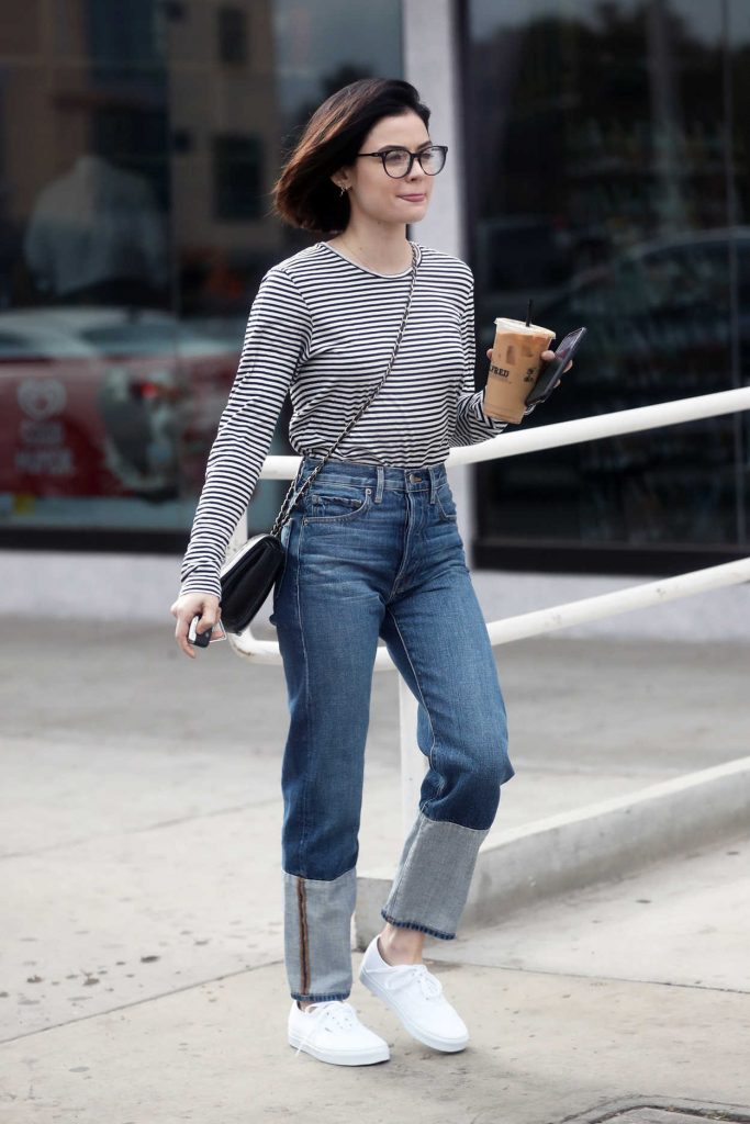 Lucy Hale Grabs an Iced Coffee from Alfred Coffee in West Hollywood 12/20/2017-1