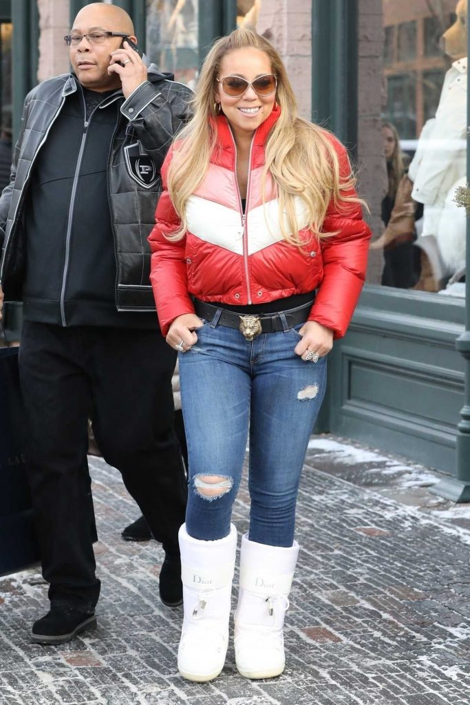 Mariah Carey Goes Christmas Eve Shopping at Ralph Lauren in Aspen 12/24/2017-1