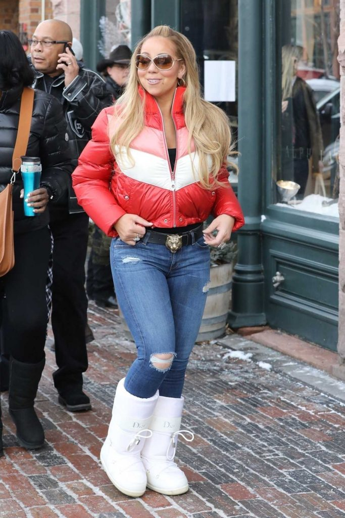Mariah Carey Goes Christmas Eve Shopping at Ralph Lauren in Aspen 12/24/2017-2