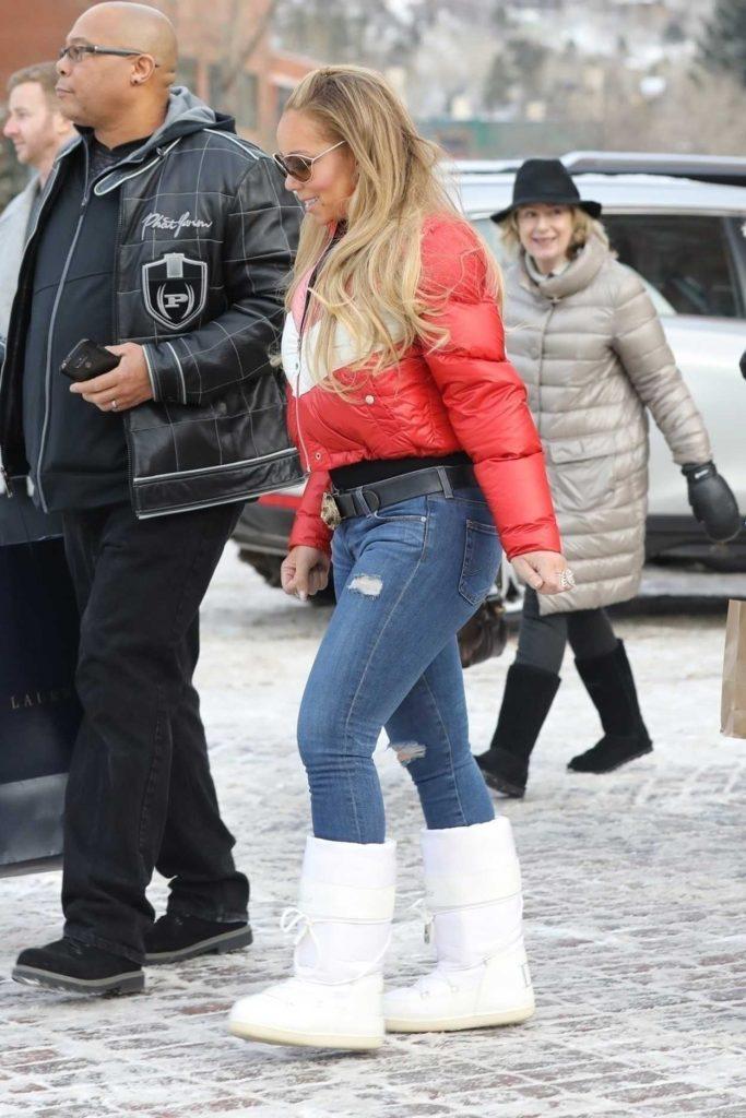 Mariah Carey Goes Christmas Eve Shopping at Ralph Lauren in Aspen 12/24/2017-5