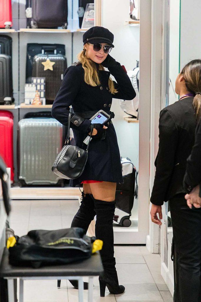 Paris Hilton Was Seen at Heathrow Airport in London 12/14/2017-1