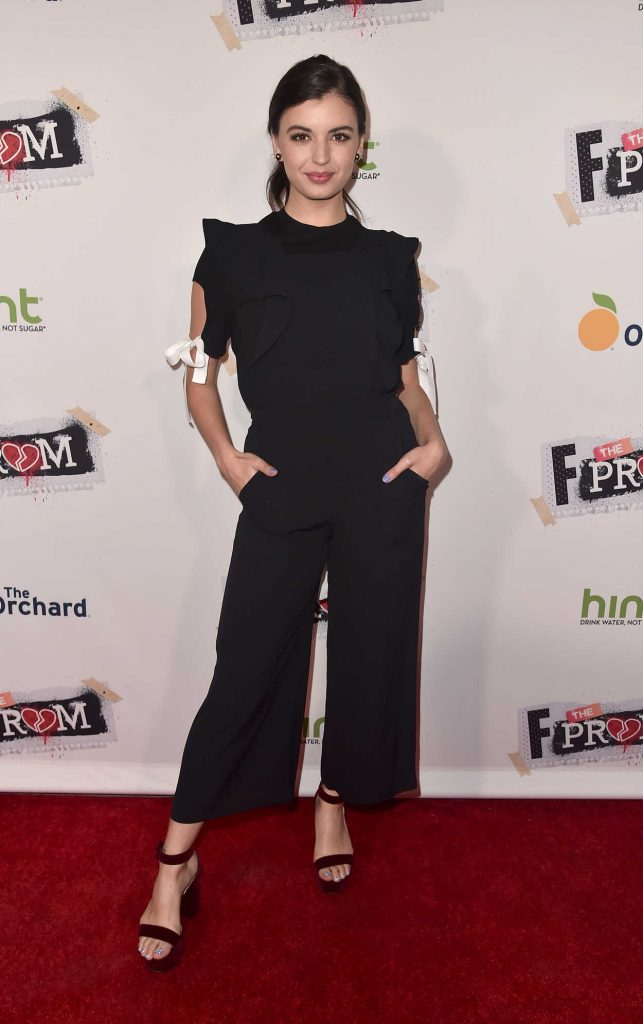 Rebecca Black at the F The Prom Premiere at ArcLight Cinemas in Hollywood 11/29/2017-1