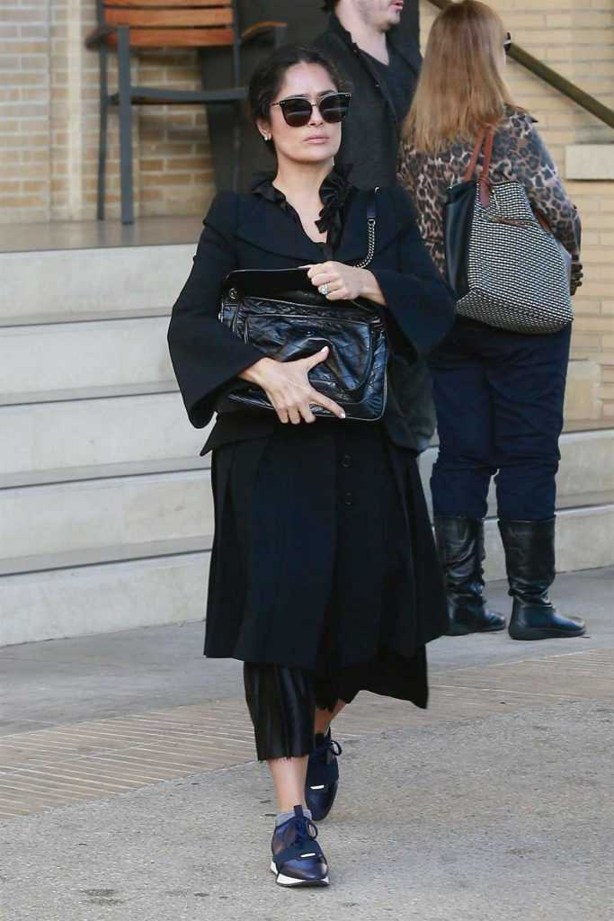 Salma Hayek Shops at Barneys New York 12/22/2017-1