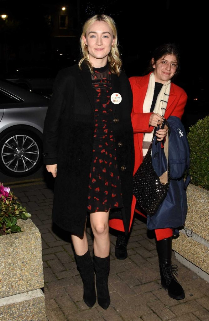 Saoirse Ronan Arrives at The Late Late Show in Dublin 12/08/2017-1