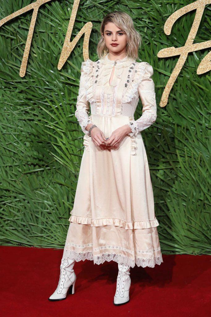 Selena Gomez at 2017 British Fashion Awards at the Royal Albert Hall in London 12/04/2017-1