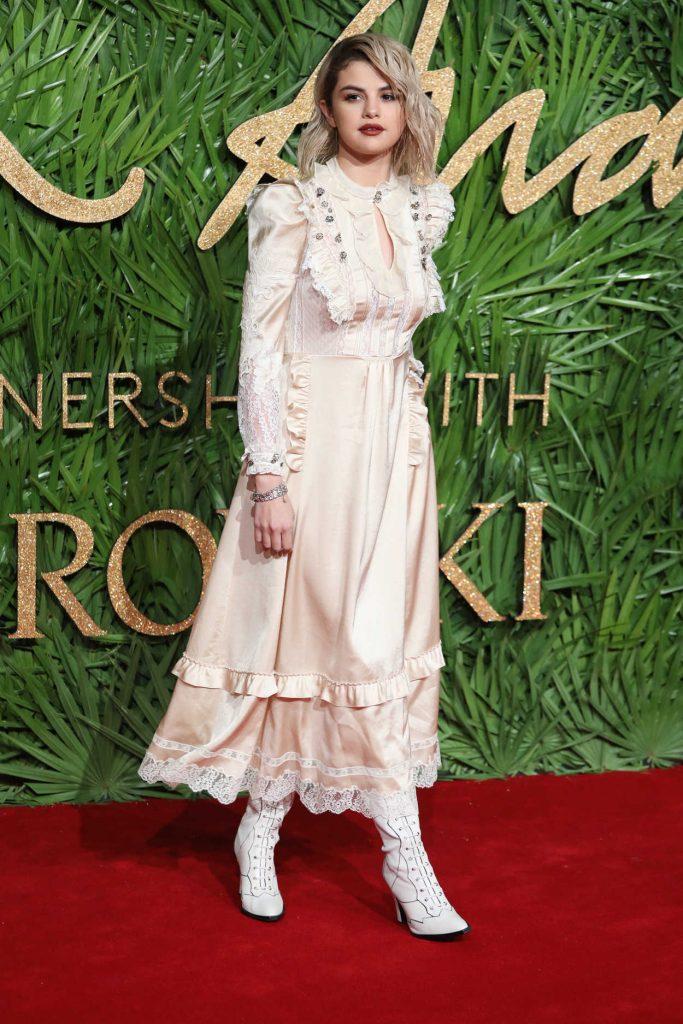 Selena Gomez at 2017 British Fashion Awards at the Royal Albert Hall in London 12/04/2017-2