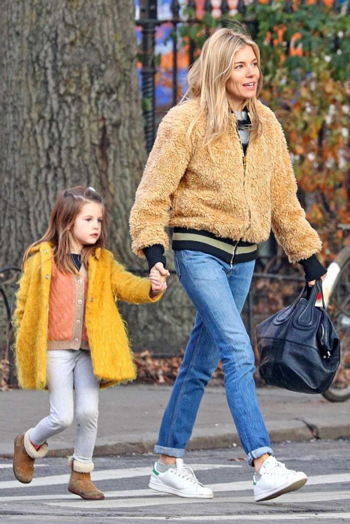 Sienna Miller Was Seen with Her Daughter Out in NYC 12/19/2017-5