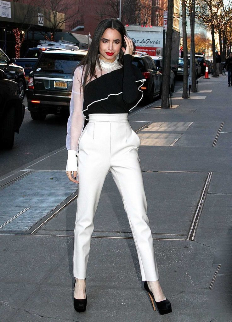 Sofia Carson Arrives at The View in NYC 12/07/2017-2