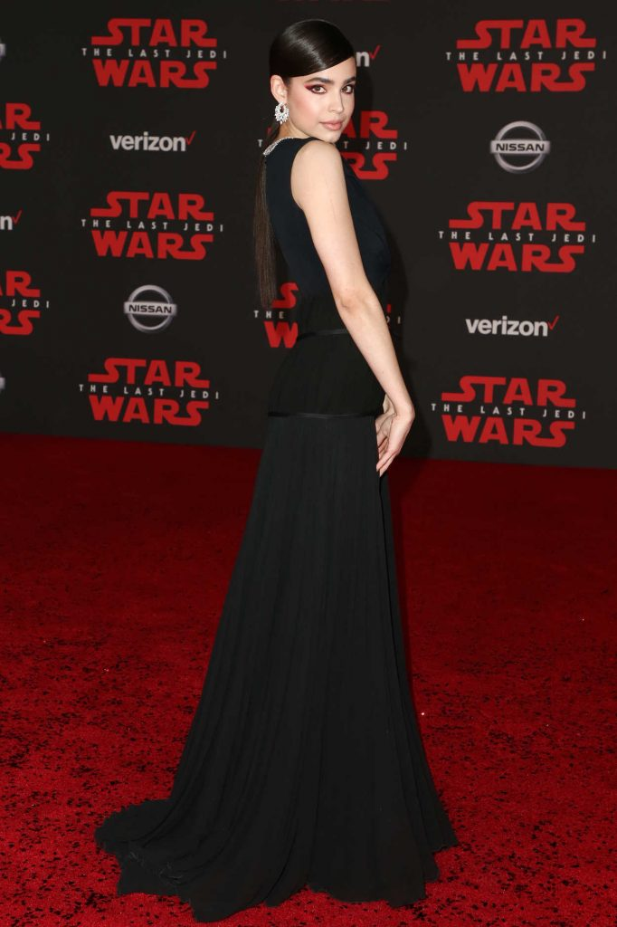 Sofia Carson at the Star Wars: The Last Jedi Premiere in Los Angeles 12/09/2017-4