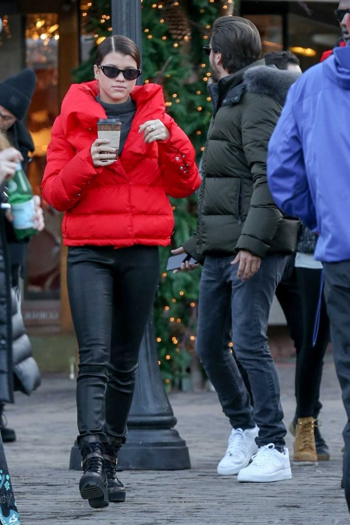 Sofia Richie Does a Romantic Stroll with Scott Disick in Aspen 12/29/2017-1