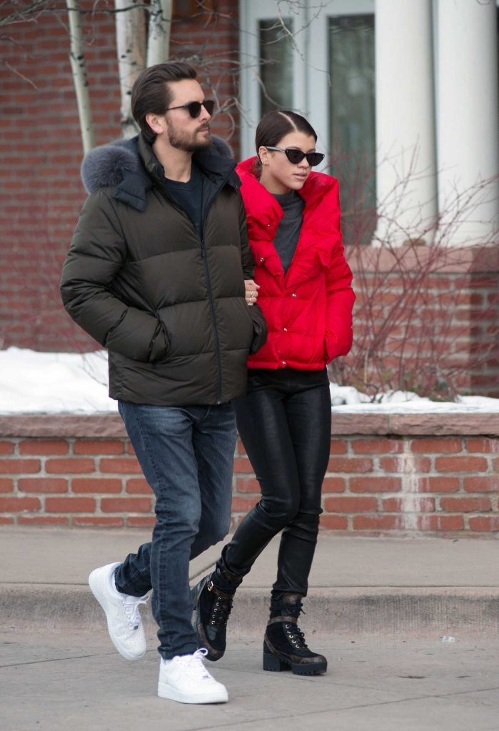 Sofia Richie Does a Romantic Stroll with Scott Disick in Aspen 12/29/2017-5