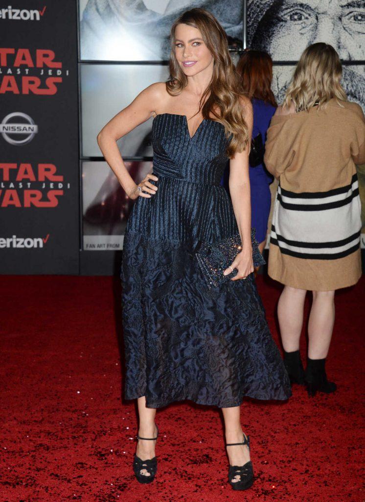 Sofia Vergara at the Star Wars: The Last Jedi Premiere in Los Angeles 12/09/2017-2